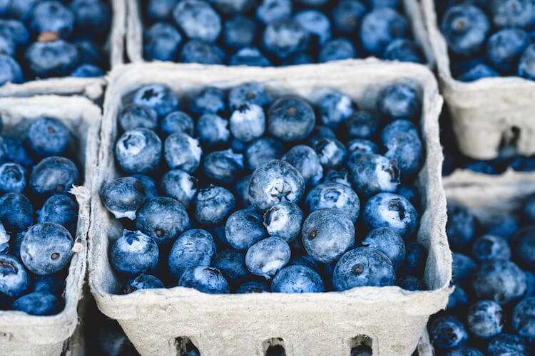 bushel of blueberries